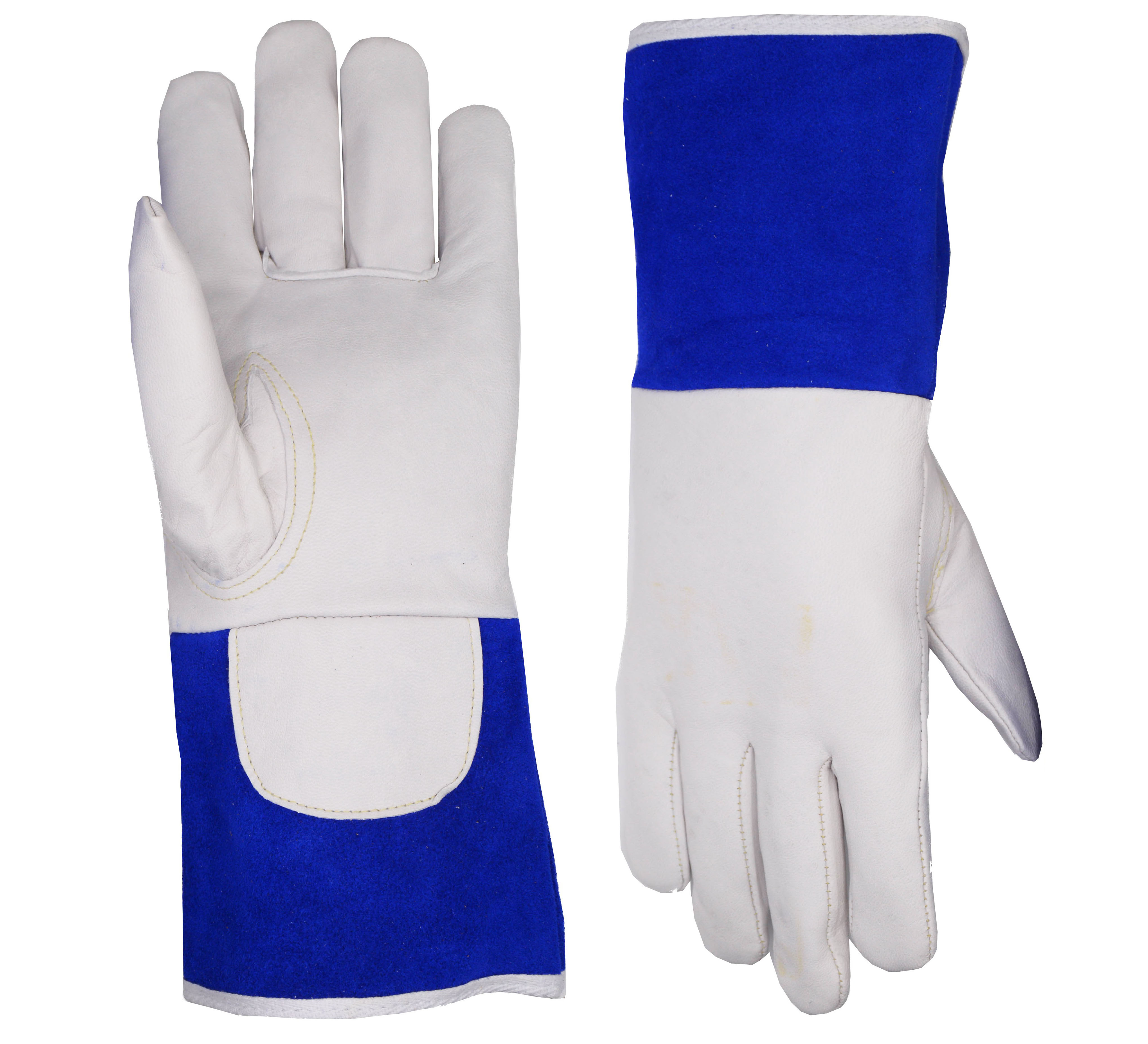 Excellent Grip ABTW Welders Gloves 3Pairs Suitable for TIG//MIG Welding//Gardening//Yard Work Premium Goatskin Leather with Split Leather Cuff with Improved Dexterity White, Large, 190703L