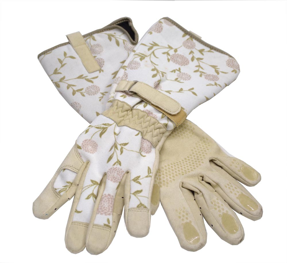 Leather Gardening Long Gloves Cut Proof Thorn Proof Thorn Resistant Gauntlet
